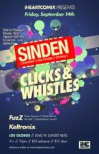 SINDEN and CLICKS & WHISTLES plus FUZZ / KELTRONIX