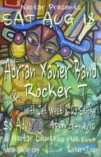 ADRIAN XAVIER BAND & ROCKER T. with Jet West, DJ Sticky