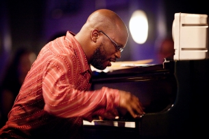 Orrin Evans & The Captain Black Big Band with Tim Green, Todd Bashore (alto sax), Mark Allen (bari sax), Duane Eubanks, Freddie Hendrix, Tatum Greenblatt, Josh Lawrence (trumpets), David Gibson, Conrad Herwig, Brent White, Stafford Hunter (trombones),