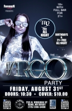 THE VIRGO PARTY Presented by Forbidden Fridays & Amplified Entertainment