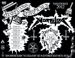 Bleeding America Tour 2012 featuring Vomitor and Negative Plane