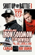 Shut Up And Battle #3 with Guest Hosts Iron Solomon & Okwerdz with performance by Iron Solomon
