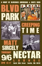 BLVD Park with Creeping Time / Matt Sircely and his Bluegrass Allstars