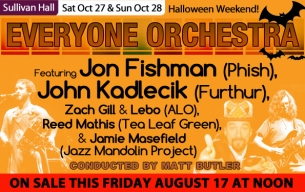 The Everyone Orchestra featuring Jon Fishman (Phish), John Kadlecik (Furthur), Lebo & Zach Gill (ALO), Reed Mathis (Tea Leaf Green) and Jamie Masefield (Jazz Mandolin Proj) Conducted by Matt Butler