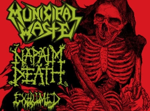 Municipal Waste with Napalm Death, Exhumed, Vektor