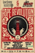 To Write Love On Her Arms presents The Hope Revolution Tour wsg Hawthorne Heights & Red Jumpsuit Apparatus / Famous Last Words / The Ongoing Concept / Everybody Run / The Wonderbuns / 2 Punch Gun / Starlit Skies / Take To The Sky / Technicolor Monster / Glassworld