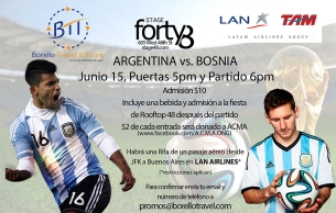 World Cup Soccer Viewing Party featuring Argentina vs. Bosnia