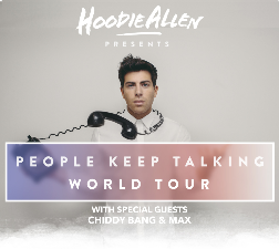 Tickets for HOODIE ALLEN: People Keep Talking Tour | Anthem at TicketWeb