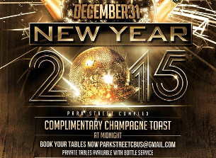 Park Street Complex NYE 2015 Party!