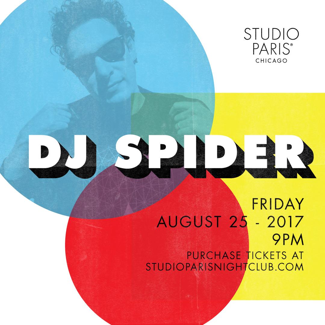 DJ Spider at Studio Paris