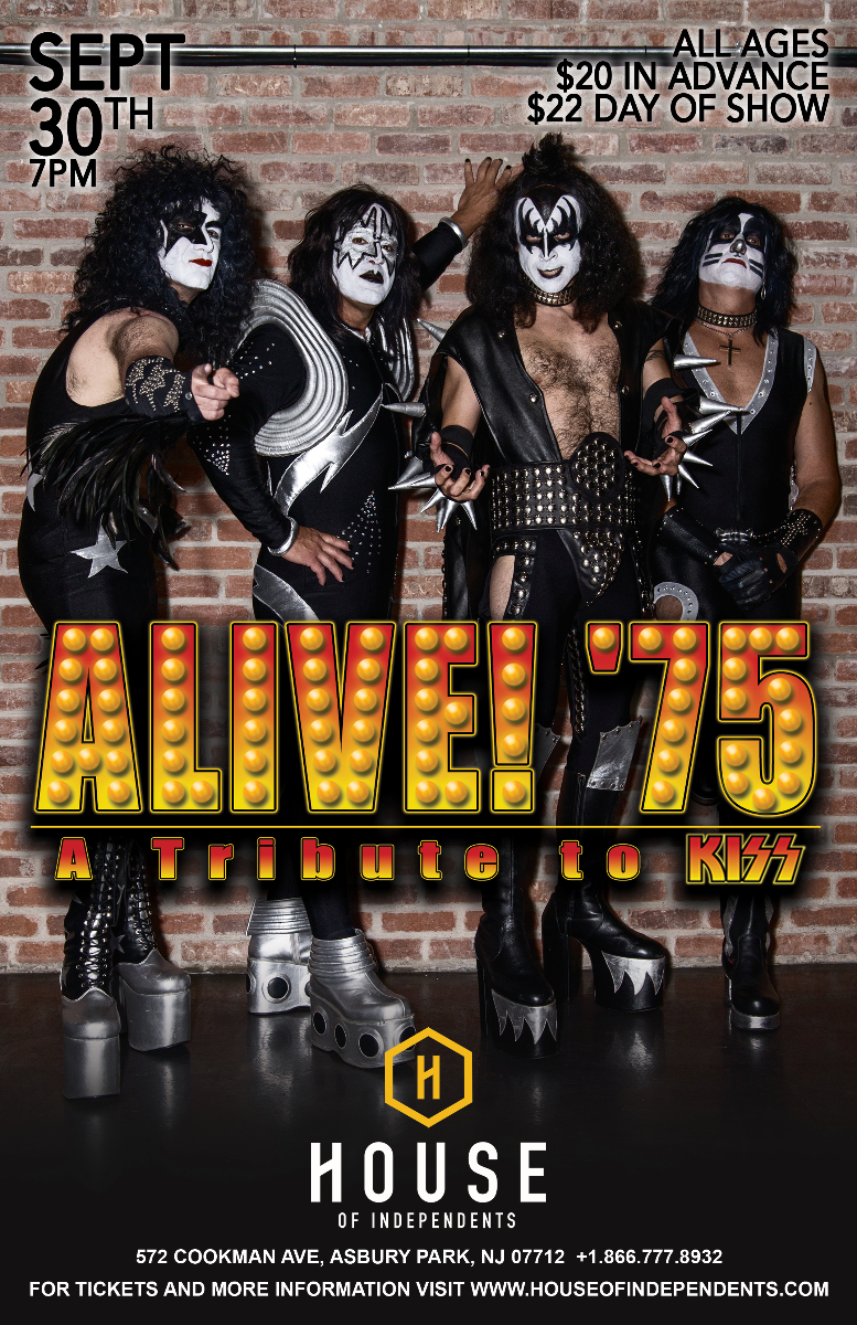Alive 39 75 the ultimate classic kiss tribute at house of for Classic new jersey house music