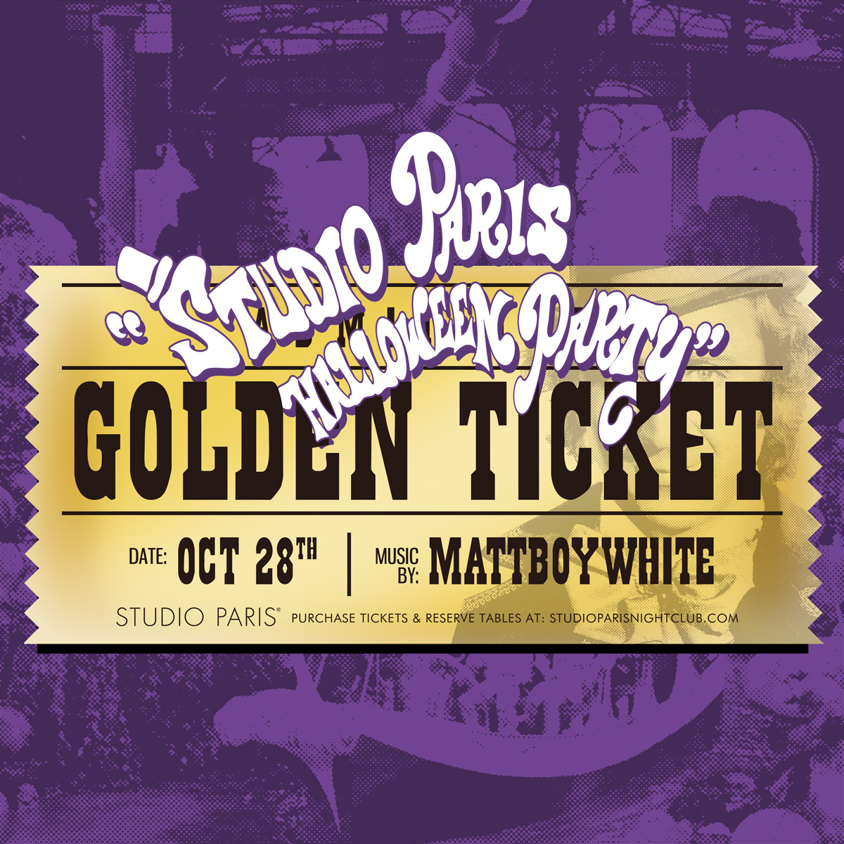 See Details for Studio Paris Halloween Party with MattBoyWhite
