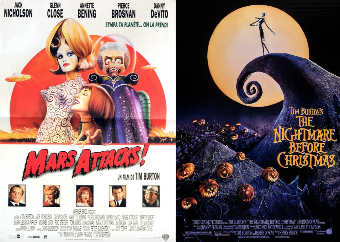 Tim Burton Movie Night: The Nightmare Before Christmas and Mars Attacks!