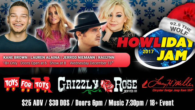The Wolf Howliday Jam Concert in Denver | Grizzly Rose