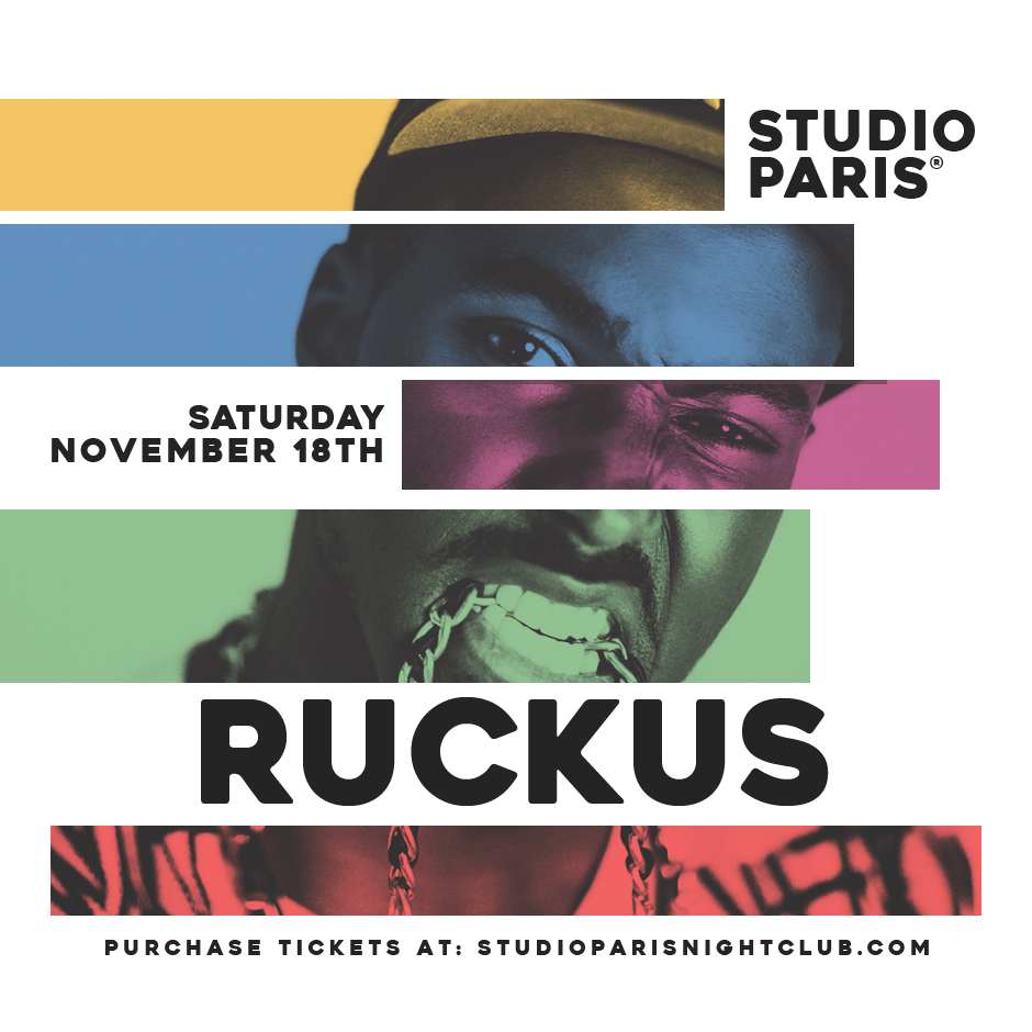 See Details for DJ Ruckus at Studio Paris
