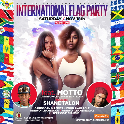 Tickets For International Flag Party Featuring MOTTO