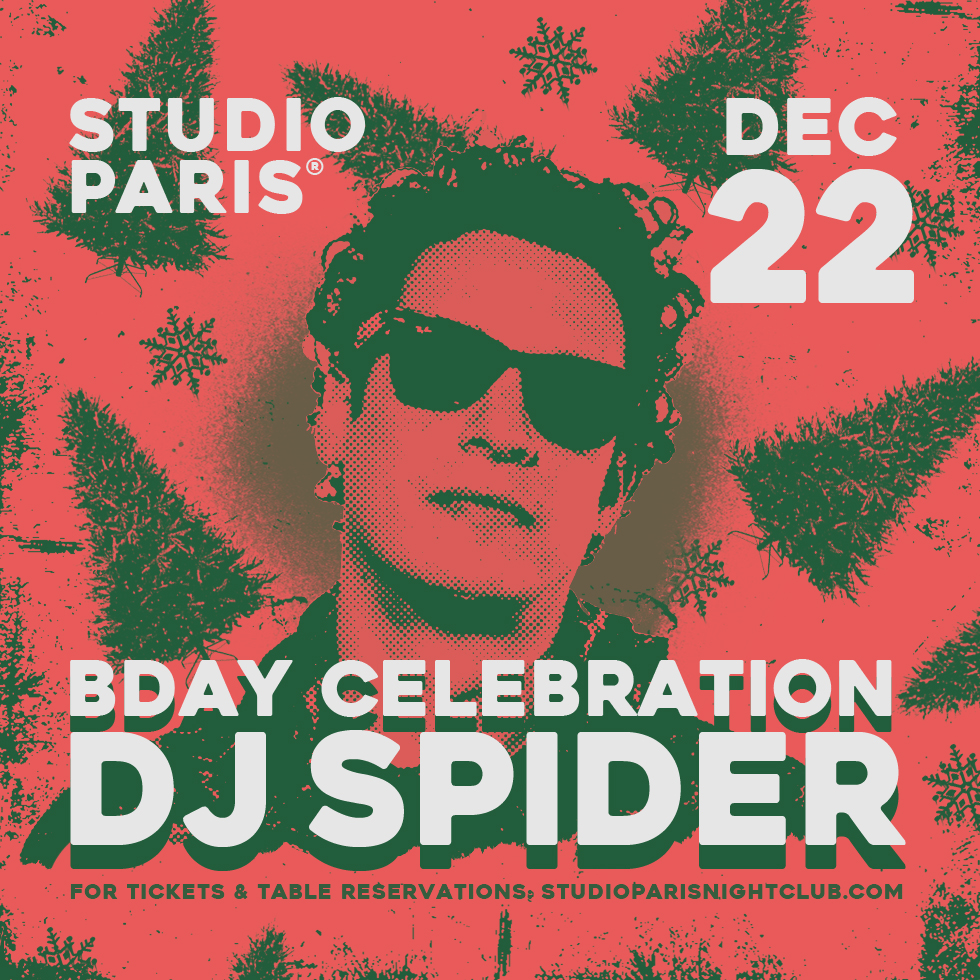 See Details for DJ Spider at Studio Paris