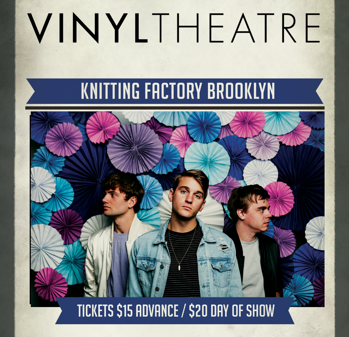 Knitting Factory Brooklyn Tickets : Vinyl theatre shiffley valley latini dylan rockoff