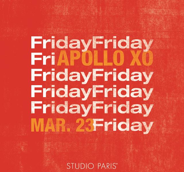 See Details for Apollo XO at Studio Paris