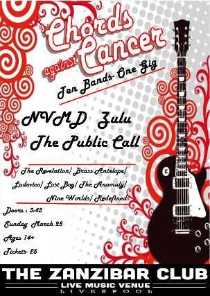 Tickets For Chords Against Cancer Presents Ticketweb Zanzibar