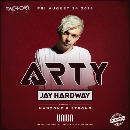 tickets for arty jay hardway ticketweb uniun nightclub in