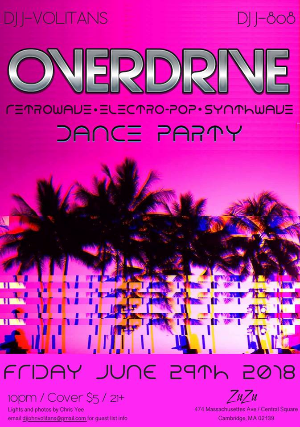 Overdrive: Retrowave / Electropop / Synthwave Dance Party