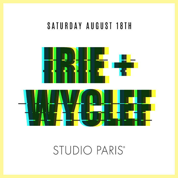 See Details for Wyclef & Irie at Studio Paris
