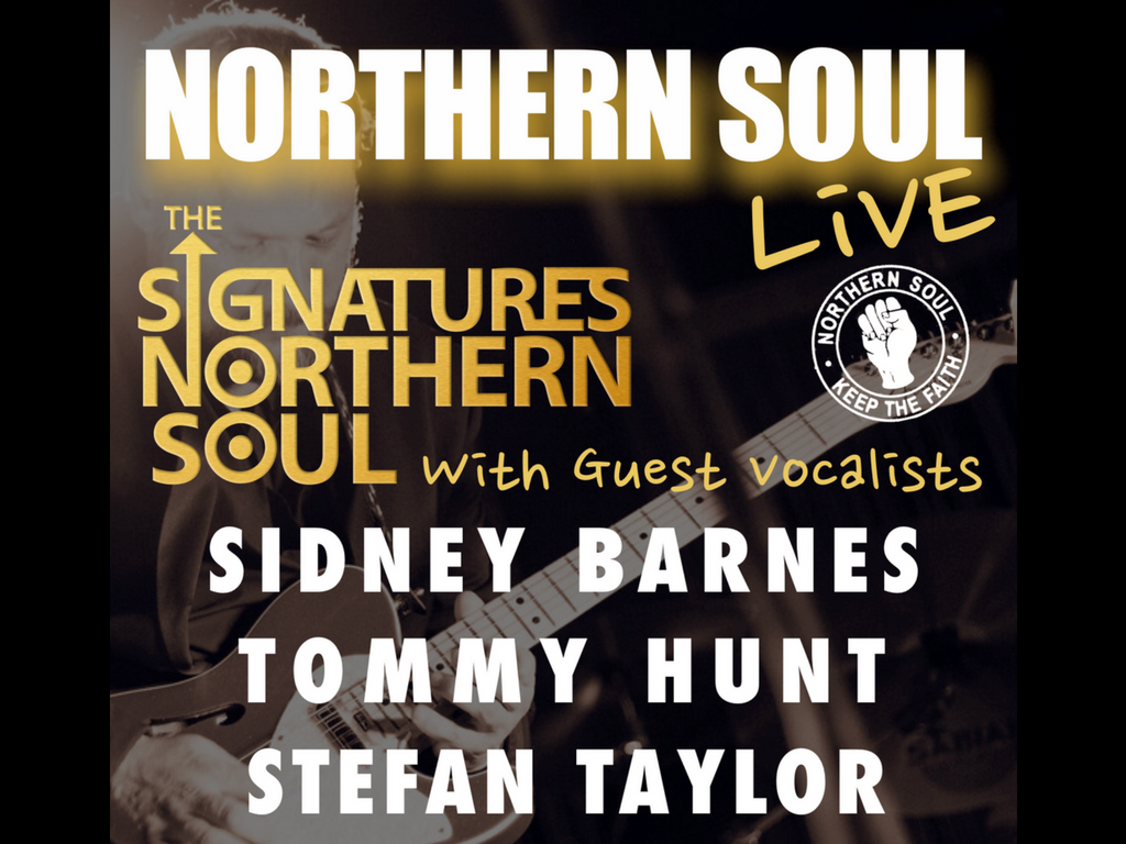 Northern Soul Live The Signatures Sidney Barnes Tommy Hunt And Piping Layout By Roger Stefan Taylor