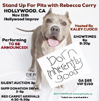 STAND UP FOR PITS with Rebecca Corry & More! Hosted by Kaley Cuoco