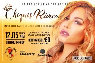 Unidos Por La Musica Presents Latin Star Chiquis Rivera- An Acoustic Box Session