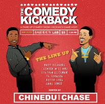 The Comedy Kickback with Chase Anthony, Zainab Johnson, Leonard Ouzts, Sydney Castillo, Carl Spitale, Nick Carathan, Tiarré Mayden, Opeyemi Olafbaju, Crystal Denah & more!