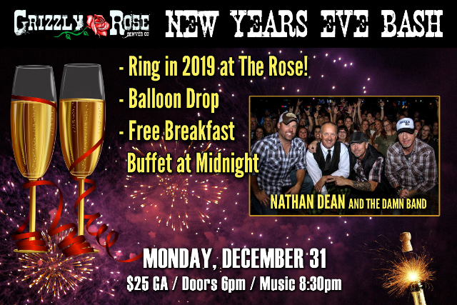 Grizzly Rose Concert December 2019 Calendar New Years Eve Ball
