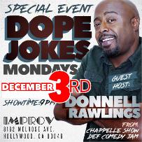 Improv Presents: MONDERAYS with Donnell Rawlings, Jamie Lee, Brett Riley & Sean Larkins!