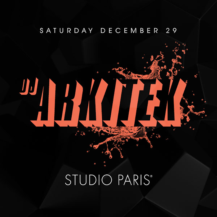 DJ Arkitek at Studio Paris