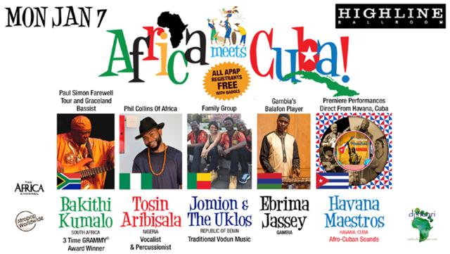 tickets for africa meets cuba feat bakithi kumalo tosin aribisala
