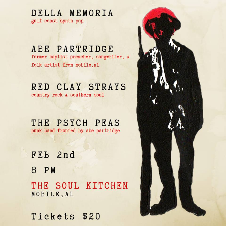 The Red Clay Strays, Della Memoria , The Psych Peas, Abe