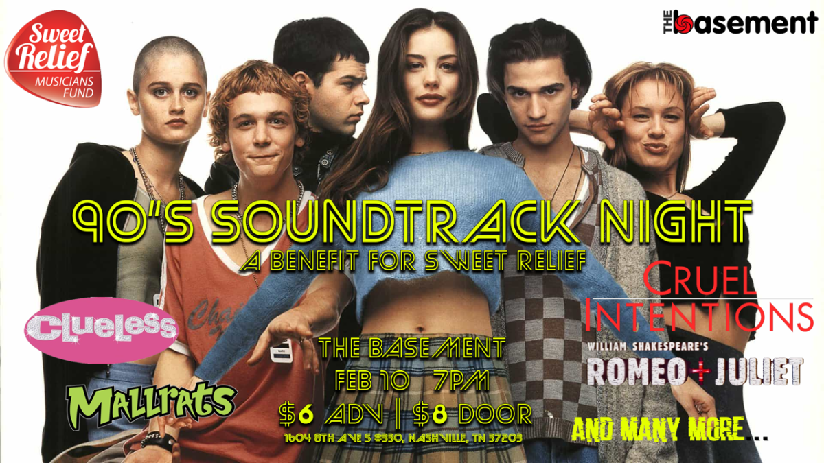 90's Soundtrack Night - A Benefit for Sweet Relief