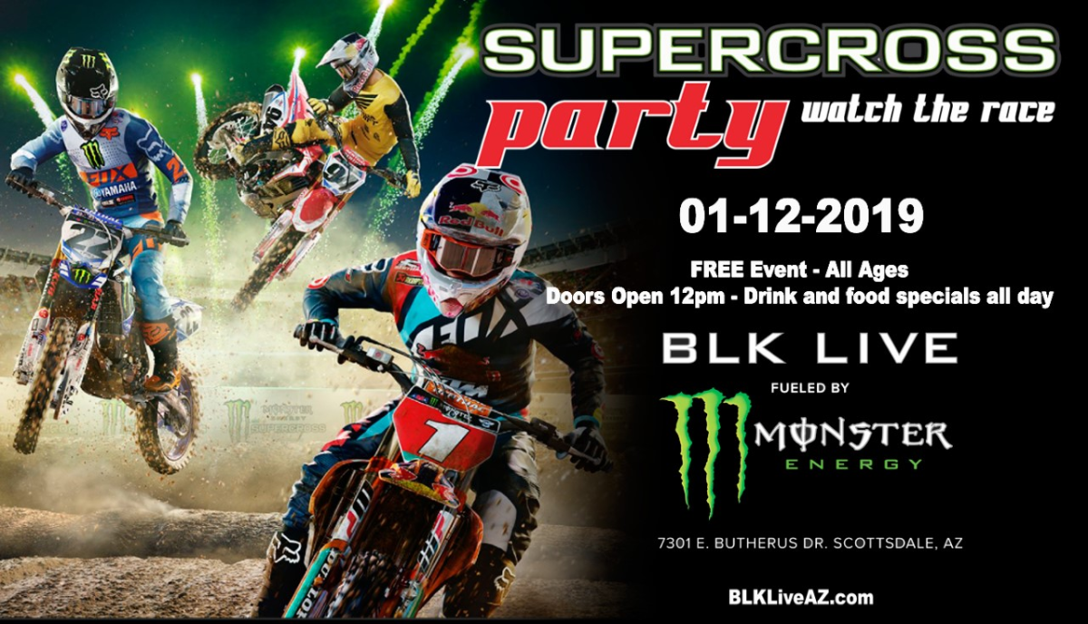 Calendrier Ama Supercross 2019.Supercross 2019 Viewing Party Free Entry Blk Live