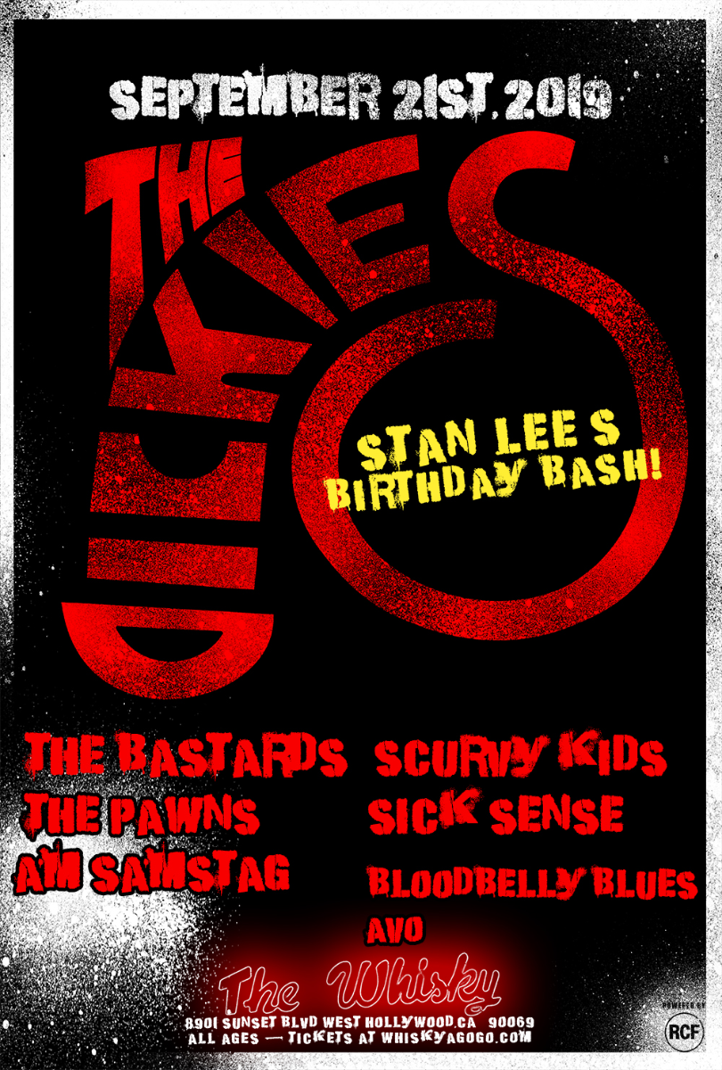 The Dickies, The Bastards , Scurvy Kids, The Pawns, Sick Sense, Am Samstag, Bloodbelly Blues, Avo