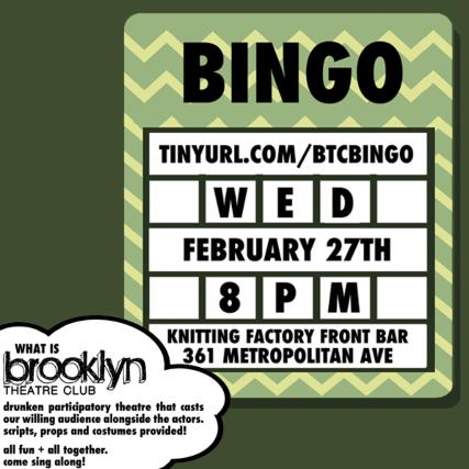 BROADWAY BINGO Presented By Brooklyn Theatre Club