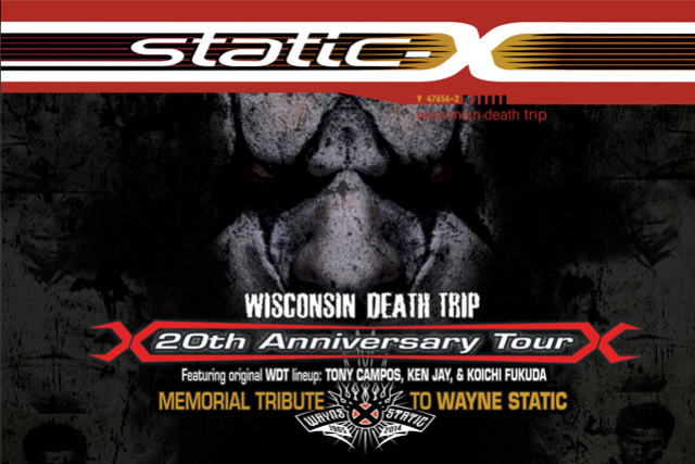 Static-X : Wisconsin Death Trip 20th Anniversary Tour