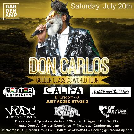 Don Carlos at Garden Amp