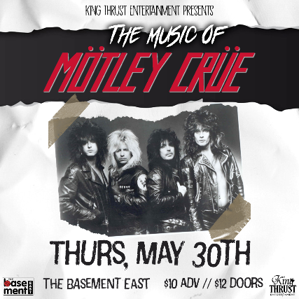 The Music of Motley Crue ft. Denman, MIPS, Jasmine Cain, Tyson Leslie's All Star Band & more