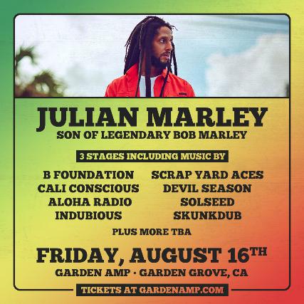 Julian Marley at the Garden Amp at Garden Grove Amphitheater