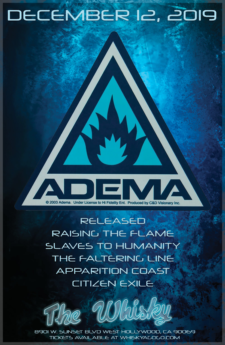 ADEMA, RELEASED, Slaves to Humanity, The Faltering Line, Apparition Coast, Citizen Exile, Raising The Flame