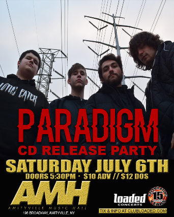 Paradigm: CD Release, Reign Of Fear, Afterburn, Only Wolves, Color Mask