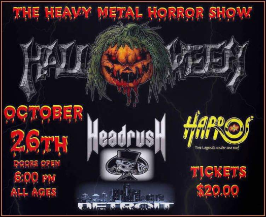 Halloween The Heavy Metal Horror Show wsg Headrush, Casting Shadowz, 86 Noodles