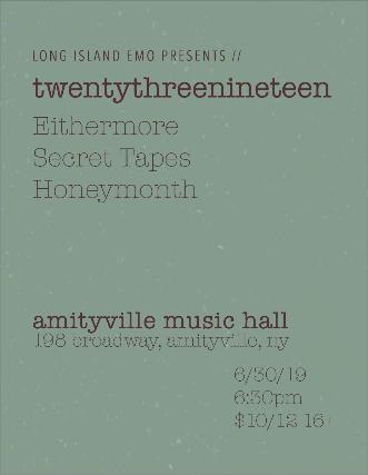 twentythreenineteen, Eithermore, Secret Tapes, Honeymonth