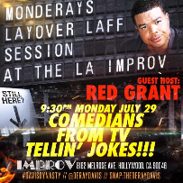 Improv Presents: MONDERAYS with guest host Red Grant!