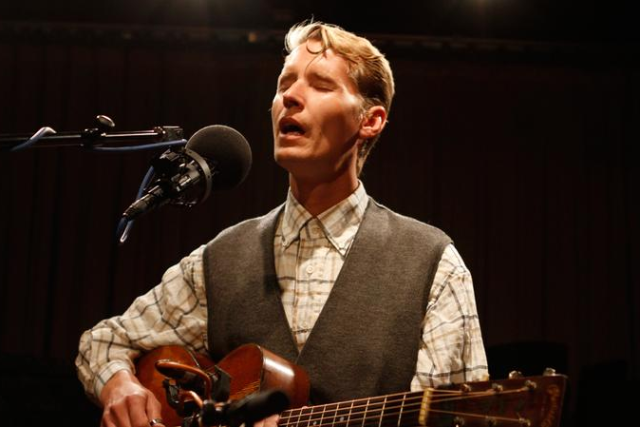 Tom Brosseau at Templar's Hall in Old Poway Park
